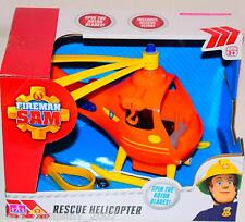 Fireman Sam Rescue Helicopter With Rotating Blades New