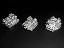 Warhammer EPIC 40,000 Imperial Guard Hellhound Flame Tanks [Pack of 3] Metal.