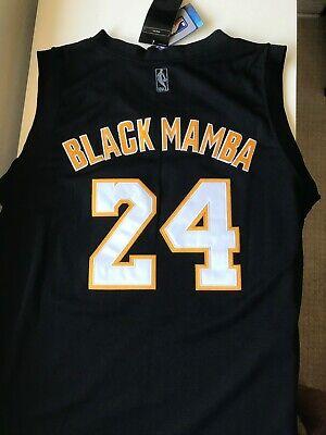 Kobe Bryant Lakers: Rare Black Mamba Jersey - All Stitched - Large - New w Tags | eBay