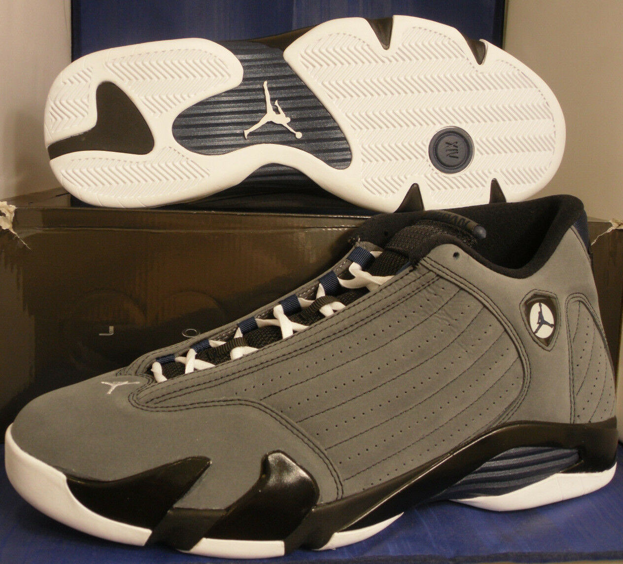 Nike Air Jordan 14 XIV Retro Light Graphite Grey Midnight Navy Price reduction The latest discount shoes for men and women