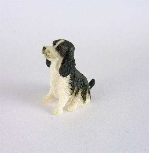 Dollhouse Miniature HALF Scale 1:24 Springer Spaniel Dog A3039BK