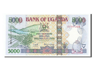2004 5000 Shillings Km #44a #155231 65-70 Uganda Unc Dz241228 Products Are Sold Without Limitations