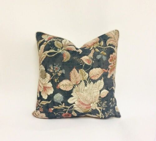 Clarke and Clarke Sissinghurst Medianoche//de la especia Cushion Covers muchos Tamaños
