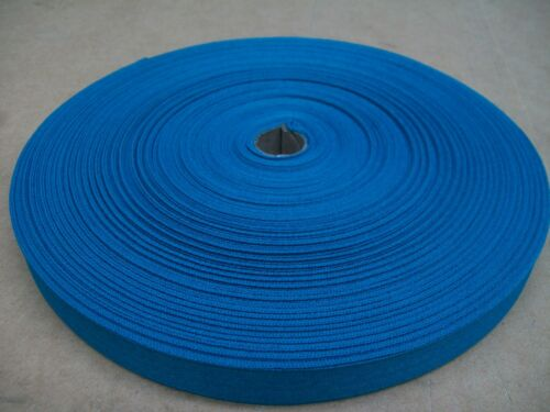 "BINDING TAPE POLYESTER 36mm 112"" MID BLUE 100 mtrs"