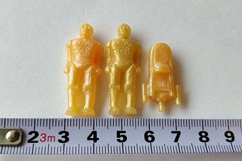 Vintage Star War keshi rubber eraser polyethylene 3-piece set-a917-