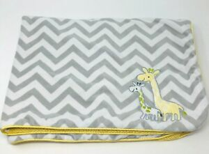 Just-One-You-Carters-Giraffes-Yellow-Gray-White-Chevron-Zig-Zag-Sherpa-Blanket