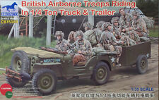Bronco Models - 1/35 British (Airborne) 1/4Ton Truck & Trailer w/ Crew # 35169