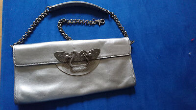 Silberne Damenhandtasche mit Magnetverschluß CBGB & Omfug