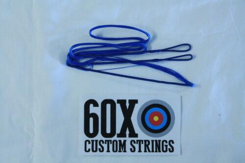 63 16 Strand Blue Dacron B50 Longbow ARC par 60X Custom Cordes Bow