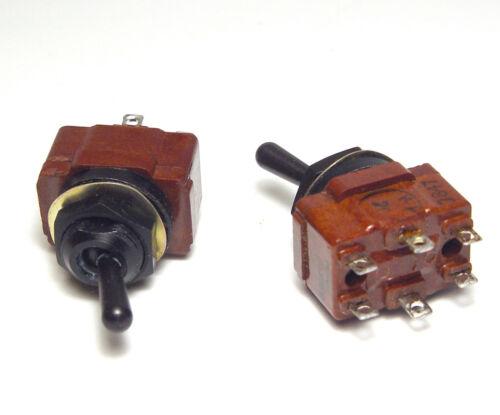 NOS 2x pour 2x Mil secretzero NSF 554 A//Kipp-Commutateur//Interrupteur marche//arrêt