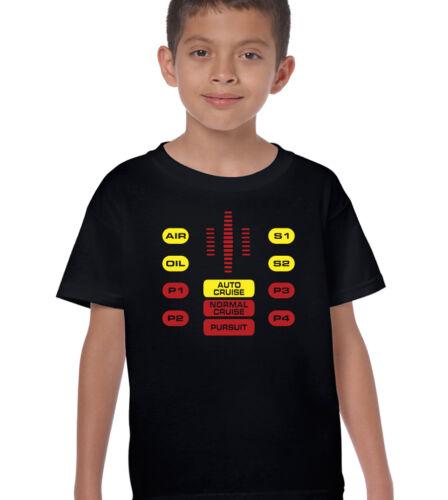 Knight Rider Satz Bedienfeld Kinder Lustiges T-Shirt David Hasselhoff The