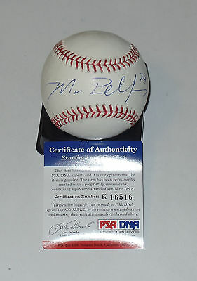 Balls Mike Pelfrey Auto'd Signed Mlb Baseball Psa/dna Coa K16516 Detroit Tigers Mets Pleasant In After-Taste Autographs-original