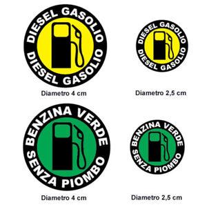 AUTO-DIESEL-TAPPO-ADESIVO-BENZINA-RIFORNIMENTO-ADESIVI-GASOLIO-VERDE-cb