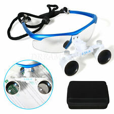 Dental Surgical Binocular Loupes 35x 420mm Optical Glass Magnifier Head Light