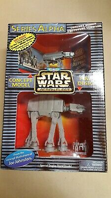 STAR WARS ACTION FLEET ALPHA IMPERIAL AT-AT WALKER COMPLETE W// 2 MINI FIGURES