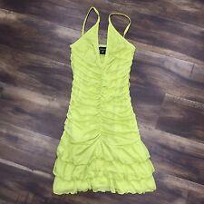 XS - VICTORIA'S SECRET MODA INT'L Ruched Citrus Yellow Dress