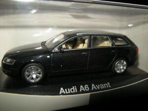 1:43 minichamps audi a6 avant typ c6 schwarz/black ovp | ebay