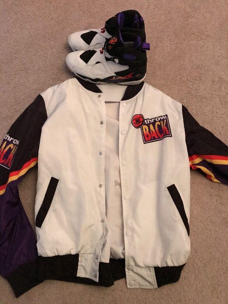 Jordan Retro 8 Infared, Size 8, With Matching Chalk line Jacket, Size medium