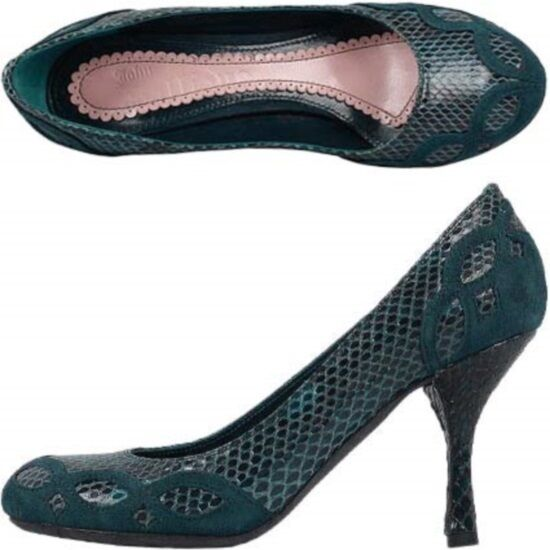 John Galliano decolletè pitone,  python pumps