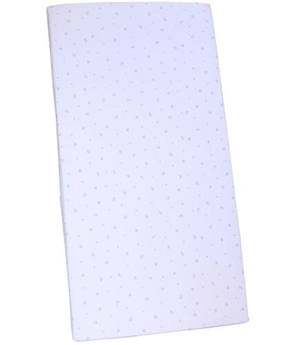 BabyPrem Baby 84 x 43 cm Blue Boys Fitted Cotton Crib Cradle Sheet Bedding