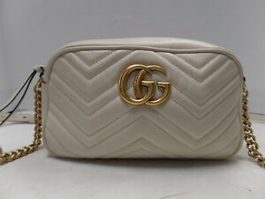 27546d5e5e025 Image is loading Authentic-GUCCI-GG-Marmont-small-Matelasse-shoulder -Leather-