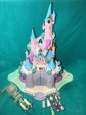 Polly Pocket Disney Cinderella Enchanted Magic Kingdom Castle COMPLETE dolls