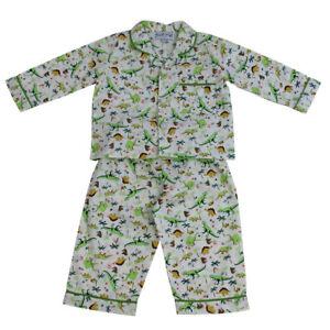 Boys-Powell-Craft-Vintage-Rex-Dinosaur-Traditional-Cotton-Pyjamas-Ages-1-9