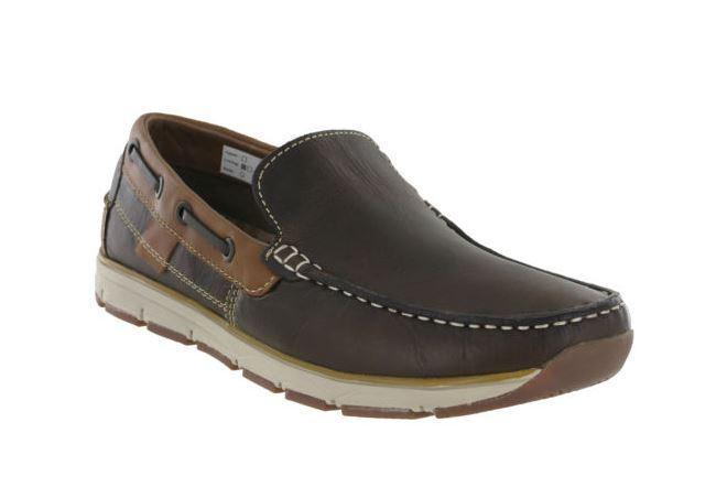 Roamers Mokassin Boot Schuhe Leder gefüttert leicht ohne Bügel Freizeit Herren