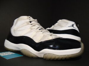 2011 NIKE AIR JORDAN XI 11 RETRO WHITE BLACK CONCORD SPACE JAM ... 5f129eb1f