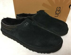 2db942192ce Details about UGG Australia NEUMAN Black SUEDE SHEEPSKIN SLIPPERS SHOES  Tasman MENS 3234 box