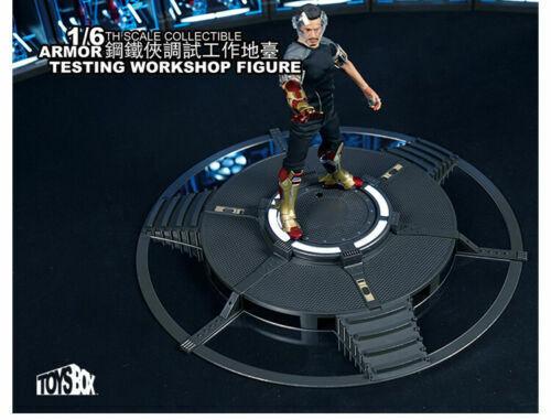 TOYSBOX 1 6 Armor Testing Atelier base plate-forme TB072 Télécommande Support Jouet