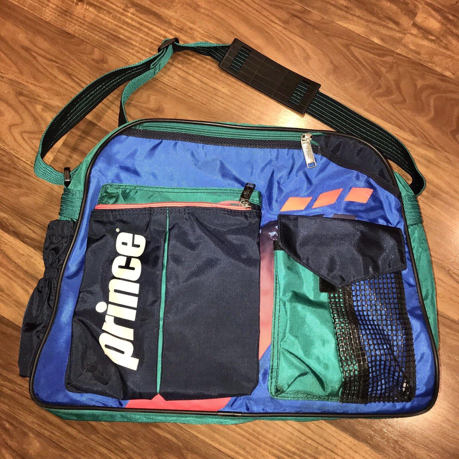 Vtg 80s 90s PRINCE Tennis GYM BAG Duffle Shoulder Bag Messenger Agassi Sampras