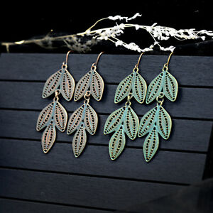 Women-Vintage-Boho-Leaf-Long-Metal-Drop-Dangle-Hook-Bohemia-Earrings-Jewelry