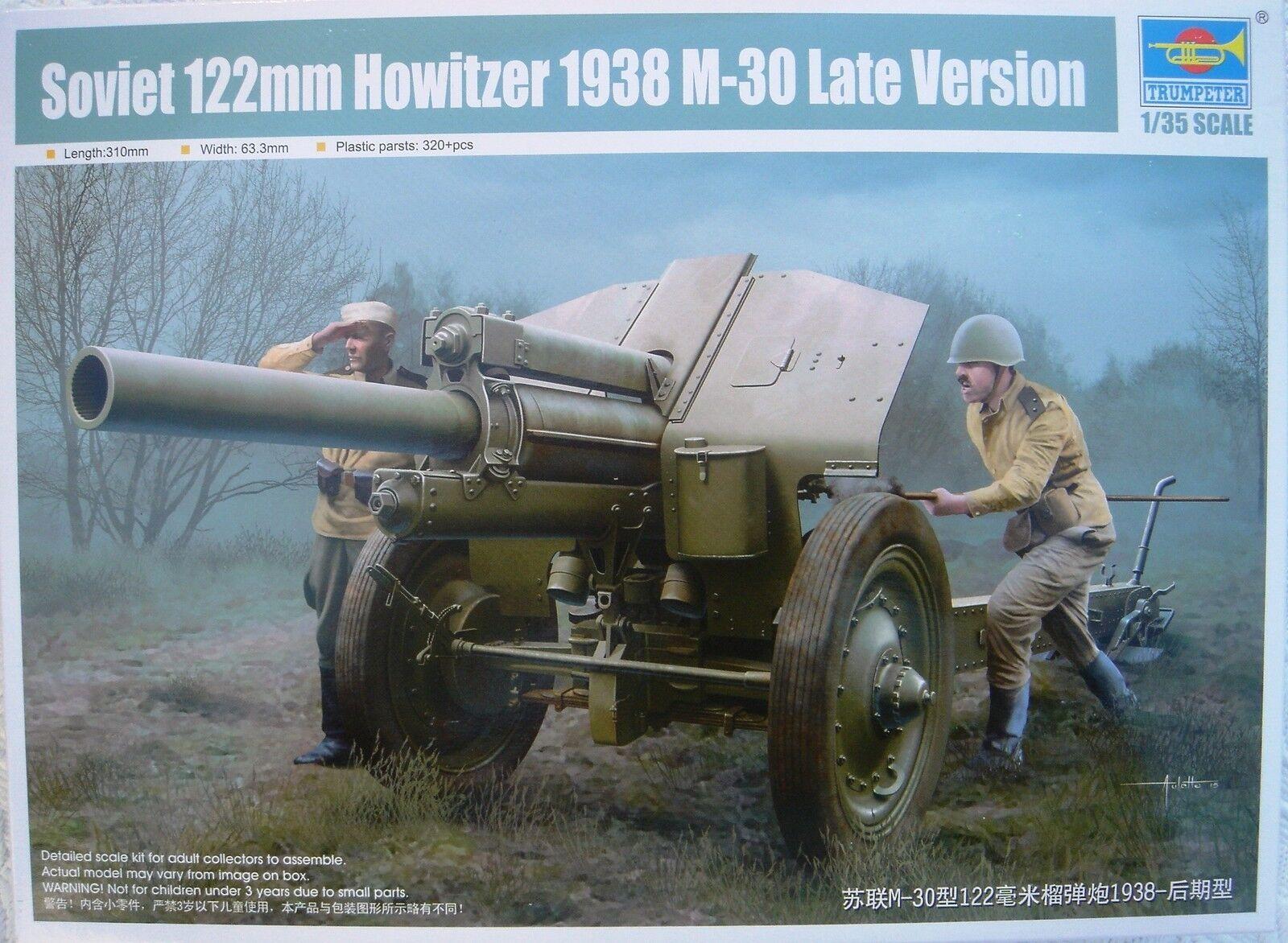 TRUMPETER 02344 SOVIET 122mm HOWITZER 1938 1938 1938 M-30 LATE VERSION 1 32 - NEU    Fuxin  1b09a3