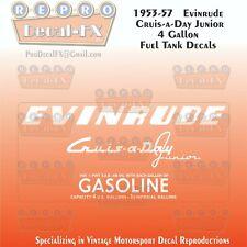 Early 1960/'s Johnson 3 US Gallon Fuel Tank Reproduction 2Pc Vinyl Decal e60JFT3