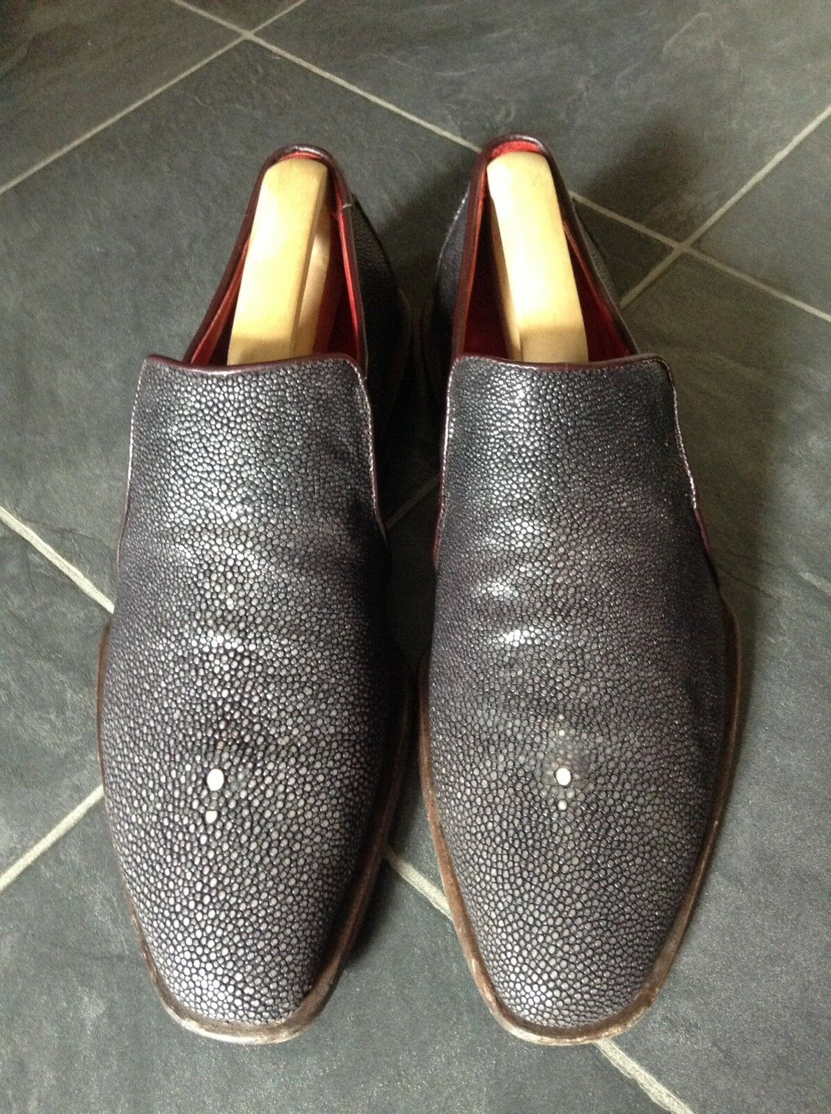 Oliver Sweeney THE GQ Chaussure, Skin StinGris  Skin Chaussure, Mocassin, Taille 8/42, Aubergine 257c97