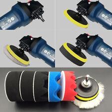 7PCS 3 inch Polishing Buffer Sponge Pad Set + Drill Adapter For Car Polisher UY