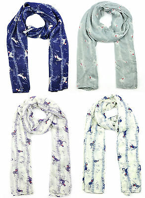 Ladies Womens Colorful Scarf with Cat on Music Note Wraps Shawl Soft Scarve SC79
