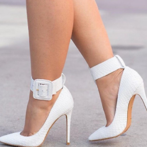 Womens-Pointed-Toe-Ankle-Strap-Party-Evening-Plus-Stiletto-High-Heel-Pump-Shoes
