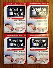 104 BREATHE RIGHT Nasal Strips Extra Size Nose Band Stop Snoring Sleep Breath