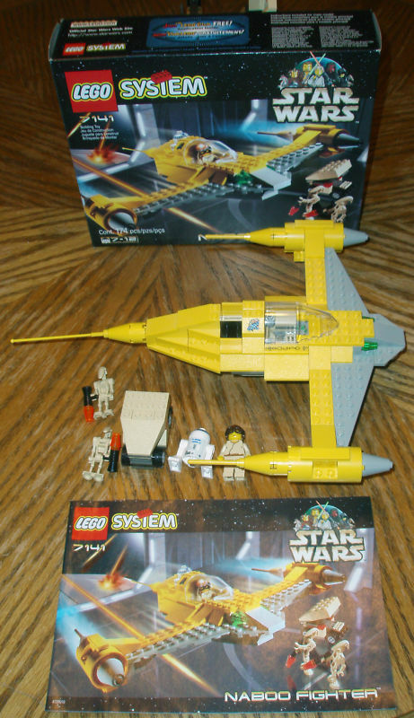 7141 NABOO FIGHTER star wars lego COMPLETE 100% box lego set