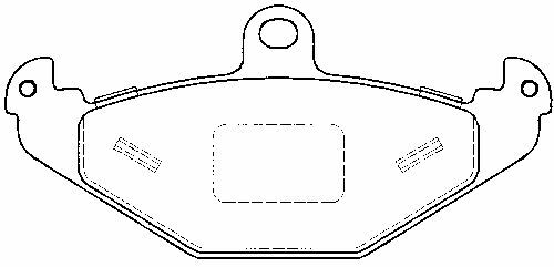 Vauxhall VX220 00-05, New Rear Brake Pads