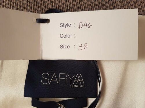 Black Red Bnwt Rrp Cream Lace £1354 Stunning 8 Designer Safiyaa Carpet Dress amp; z1pngWUpa