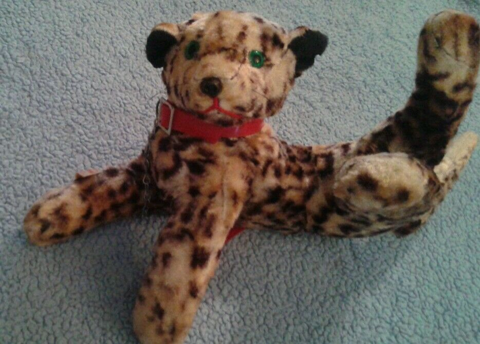 Coronet Playtime Pals Vintage Plush Cheetah Big Cat Leopard Jaguar Lion Cub