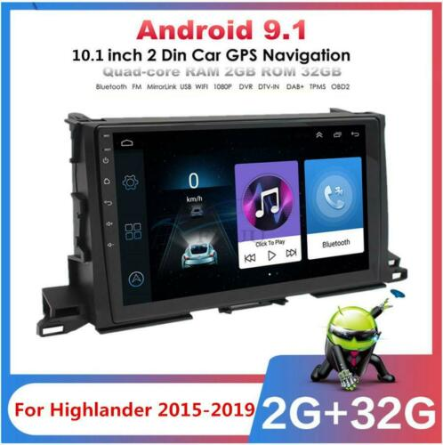 2G+32GB Android 9.1 10.1/'/' Car Stereo Radio GPS WIFI For Toyota Highlander 15-19