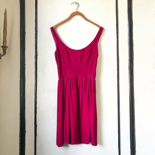 Vintage 1980s Stephen Sprouse Velvet Raspberry Red