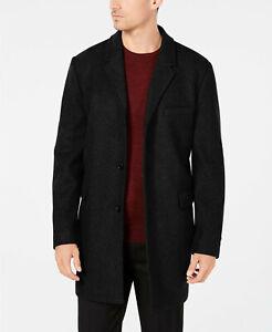 RRP-395-Michael-Kors-Men-039-s-Slim-Fit-Topcoat-Black