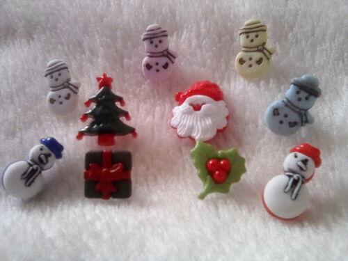 De Noël 5 boutons dans 4 Designs