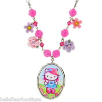 Tarina Tarantino Pink Head Flower Charm Necklace pink Made In California