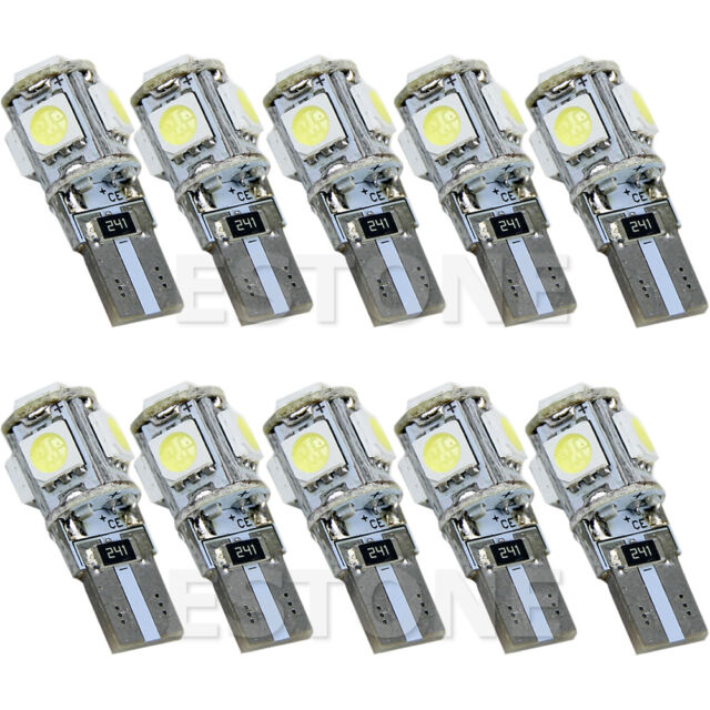 Lot 10/50/100PC T10 5-SMD 5050 Interior LED Light bulbs Wedge W5W 194 168 White